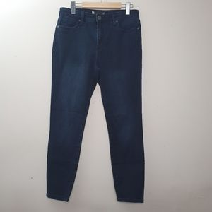 KUT Donna High Rise Ankle Skinny Blue Jeans Sz 10